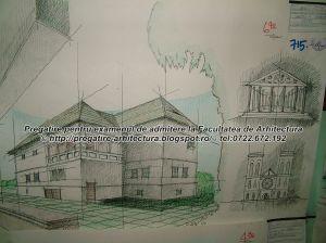 Planse examen admitere Facultatea de Arhitectura - UIAIM - 2004 - 022