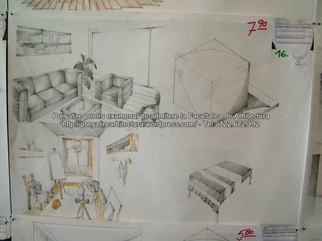 Examen admitere UAUIM 2015 - Arhitectura de interior - 016