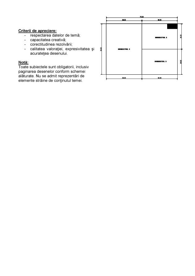Subiect admitere UAUIM - Mobilier si amenajari interioare - 2015 - 003
