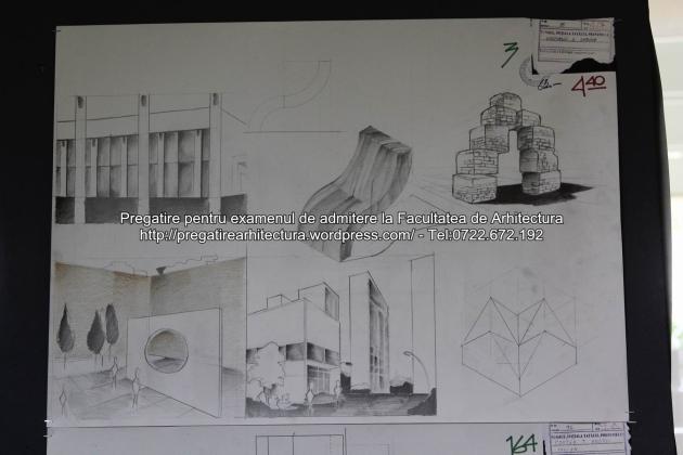 Planse examen de admitere - Facultatea de arhitectura UAUIM - Septembrie 2015 - 003