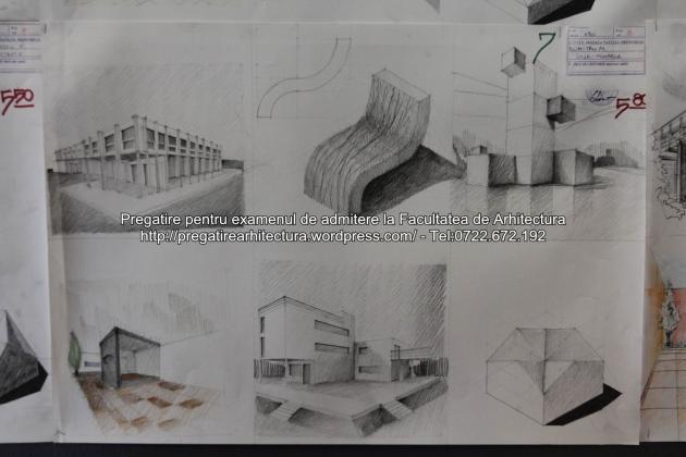 Planse examen de admitere - Facultatea de arhitectura UAUIM - Septembrie 2015 - 007