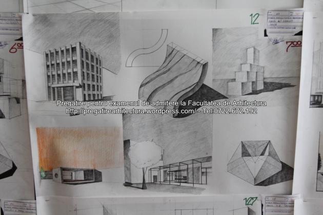 Planse examen de admitere - Facultatea de arhitectura UAUIM - Septembrie 2015 - 012