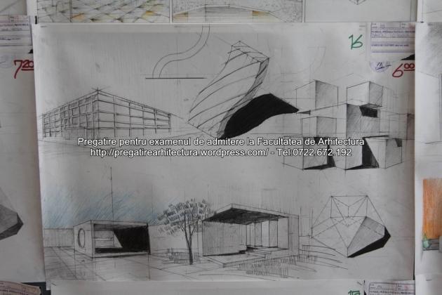 Planse examen de admitere - Facultatea de arhitectura UAUIM - Septembrie 2015 - 016