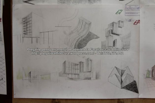 Planse examen de admitere - Facultatea de arhitectura UAUIM - Septembrie 2015 - 067
