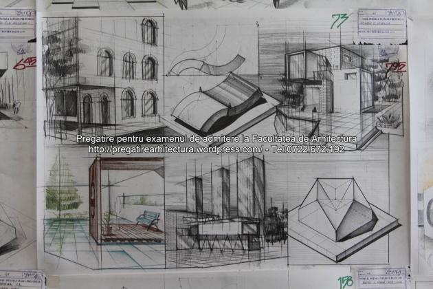 Planse examen de admitere - Facultatea de arhitectura UAUIM - Septembrie 2015 - 073