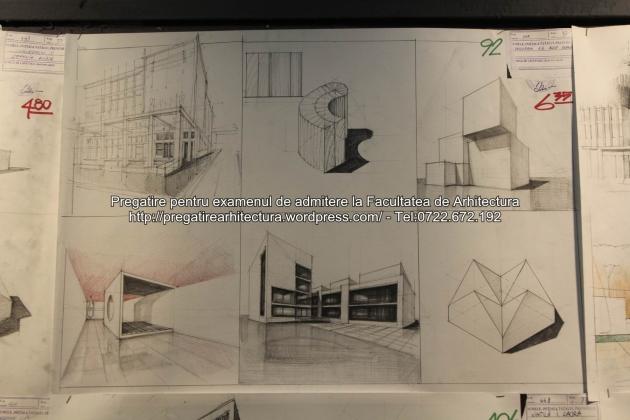 Planse examen de admitere - Facultatea de arhitectura UAUIM - Septembrie 2015 - 092