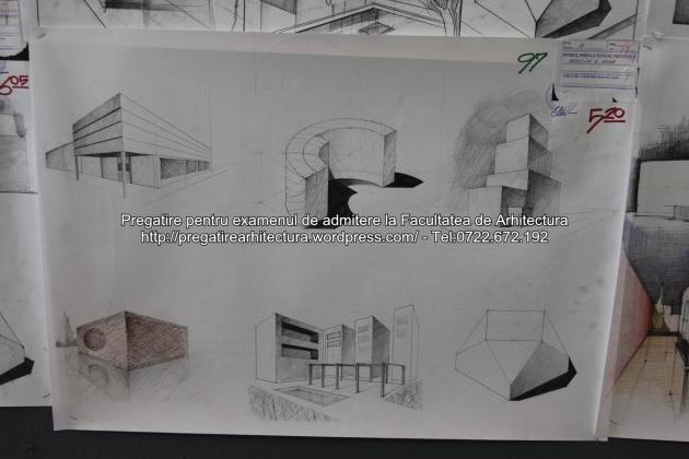 Planse examen de admitere - Facultatea de arhitectura UAUIM - Septembrie 2015 - 097