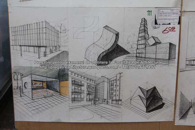 Planse examen de admitere - Facultatea de arhitectura UAUIM - Septembrie 2015 - 111