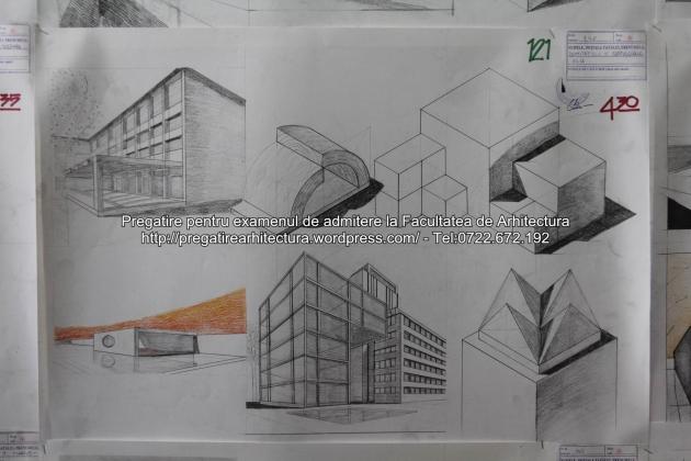 Planse examen de admitere - Facultatea de arhitectura UAUIM - Septembrie 2015 - 121