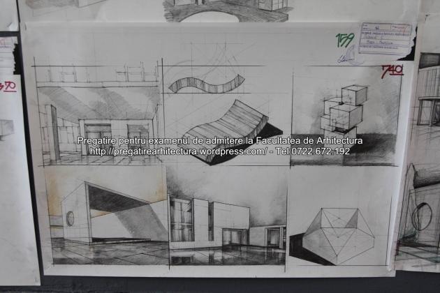 Planse examen de admitere - Facultatea de arhitectura UAUIM - Septembrie 2015 - 159