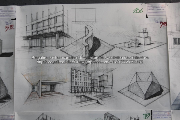 Planse examen de admitere - Facultatea de arhitectura UAUIM - Septembrie 2015 - 206
