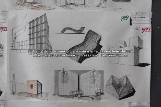 Planse examen de admitere - Facultatea de arhitectura UAUIM - Septembrie 2015 - 229