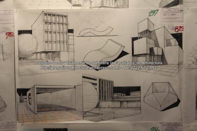 Planse examen de admitere - Facultatea de arhitectura UAUIM - Septembrie 2015 - 237