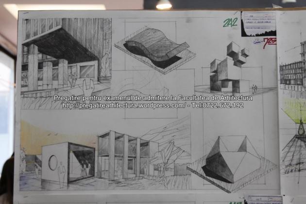 Planse examen de admitere - Facultatea de arhitectura UAUIM - Septembrie 2015 - 242