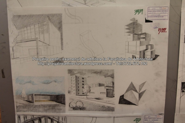 Planse examen de admitere - Facultatea de arhitectura UAUIM - Septembrie 2015 - 351