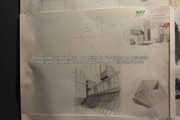 Planse examen de admitere - Facultatea de arhitectura UAUIM - Septembrie 2015 - 359