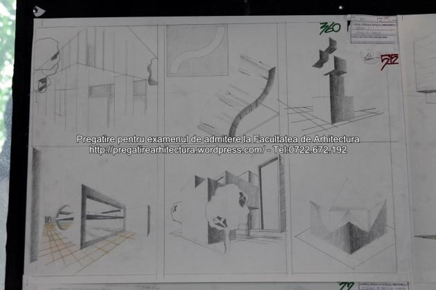 Planse examen de admitere - Facultatea de arhitectura UAUIM - Septembrie 2015 - 360