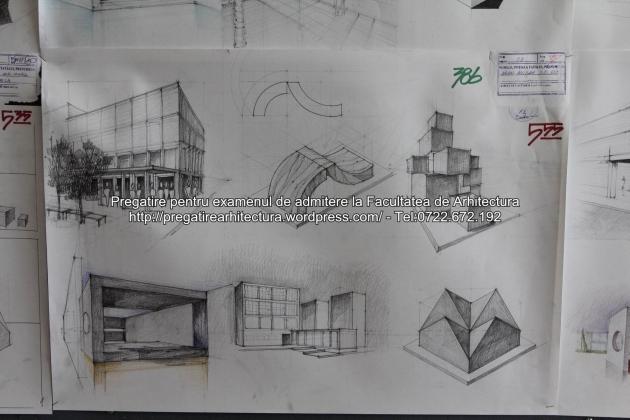 Planse examen de admitere - Facultatea de arhitectura UAUIM - Septembrie 2015 - 386