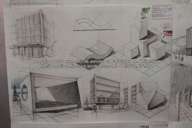 Planse examen de admitere - Facultatea de arhitectura UAUIM - Septembrie 2015 - 387