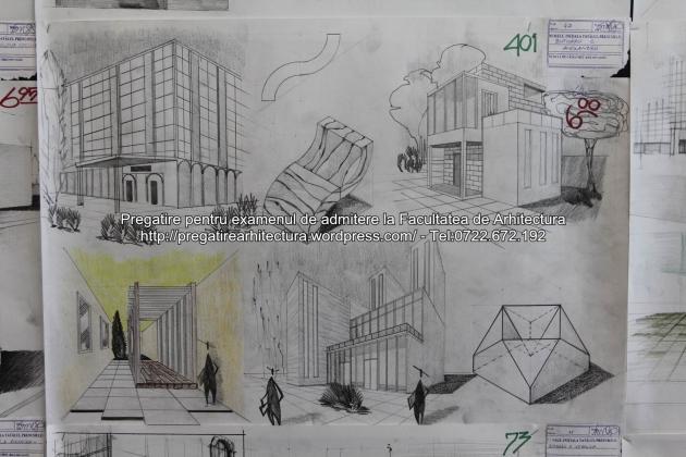 Planse examen de admitere - Facultatea de arhitectura UAUIM - Septembrie 2015 - 401