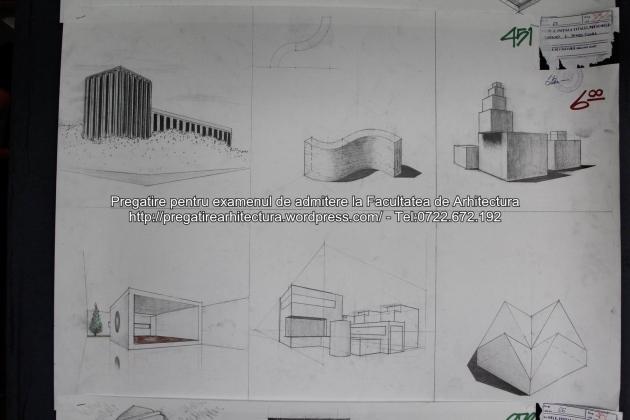 Planse examen de admitere - Facultatea de arhitectura UAUIM - Septembrie 2015 - 451