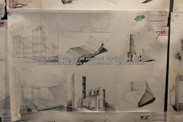 Planse examen de admitere - Facultatea de arhitectura UAUIM - Septembrie 2015 - 453