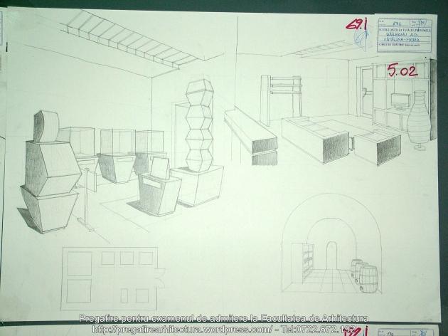 069 - Planse examen admitere Arhitectura de Interior - UAUIM 2016