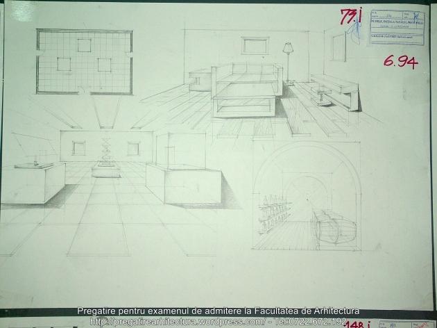 073 - Planse examen admitere Arhitectura de Interior - UAUIM 2016