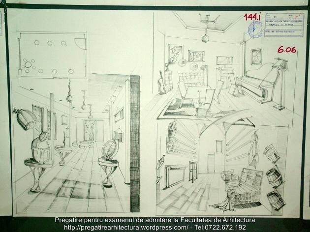 144 - Planse examen admitere Arhitectura de Interior - UAUIM 2016