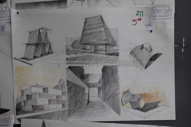 Planse examen de admitere - Facultatea de Arhitectura UAUIM 2016 - 093